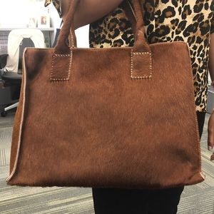 Brown calf hair bag!
